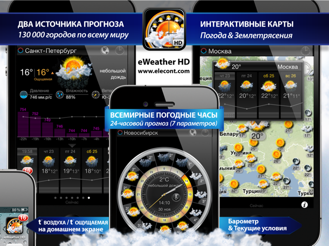 eWeather HD - 10 day weather forecast for iPhone, iPod, iPad, iOS 4,iOS 5